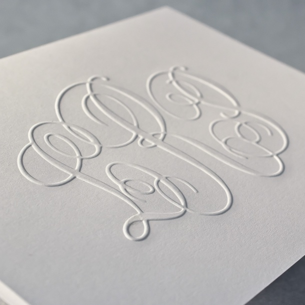 photo relating to Embossed Stationery known as Embossed Observe EA169BE