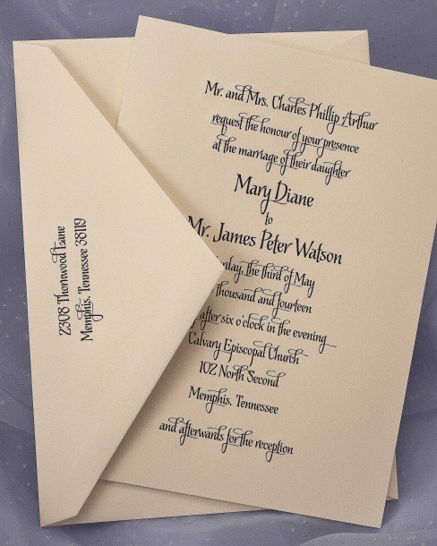 Engraved Wedding Invitation R 171 E