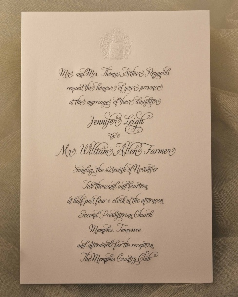 Engraved Wedding Invitation R 176 E