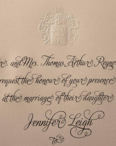 Engraved Wedding Invitation R 176 E – Traditional Engraved Wedding Invitations