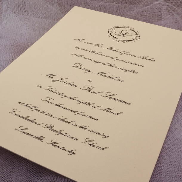 Engraved Invitations