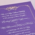 R Royal E Purple Vellum Paper with Gold and White Engraving